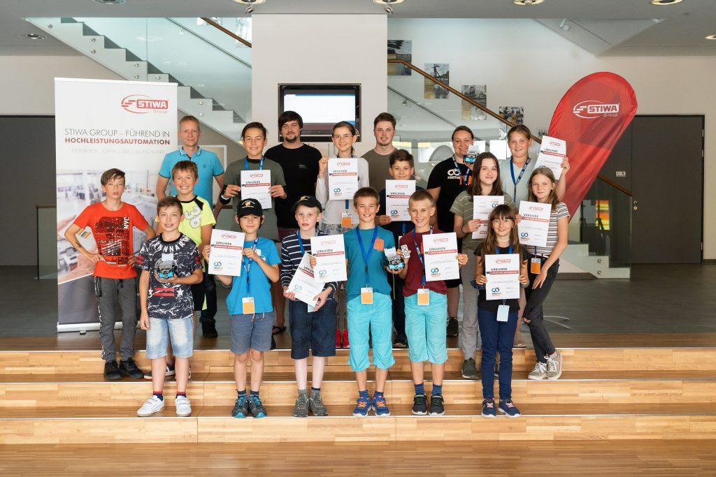 Wir gratulieren zum erfolgreichen Abschluss der Roboterparcours!