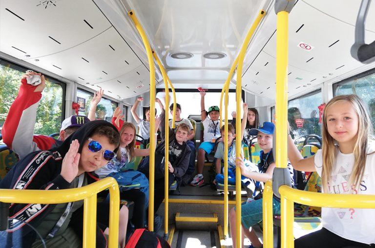 Unterwegs mit dem Bus der Stadtbetriebe Steyr ins BMD Systemhaus